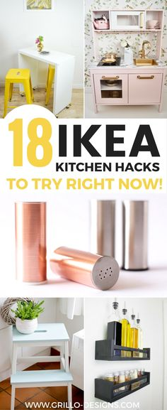 These simple IKEA Kitchen Hacks are the perfect way to give your kitchen a customised feel on a budget!Whether you're tackling a cluttered cupboard or trying to figure out storage solutions for a small kitchen, you're sure to find something inspiring!