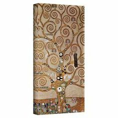 Add museum-worthy style to your dining room or master suite with this artful canvas print of Gustav Klimt's Tree of Life.   Product: Wall artConstruction Material: CanvasFeatures:  Made in the USAReady to hang