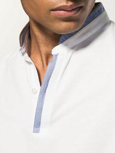 SHORT-SLEEVE POLO SHIRT WITH MANDARIN COLLAR de {9} de Massimo Dutti de {10} {11} por 29.95. ¡Elegancia natural!