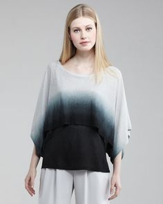 Hand-Knit Ombre Kimono by Lafayette 148 New York at Neiman Marcus.