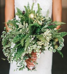 bouquet with ferns