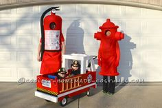 Coolest Fireman Family Costumes: Little Heroes with Big Hoses...