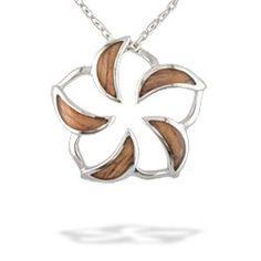 Koa Wood & Silver Plumeria   www.nahoku.com