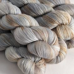 Dove merino/silk lace yarn by Hedgehog Fibres