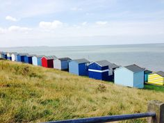 Beach huts at Whitstable Kent Uk. Looking out to sea. Via Exhausted Mum on pinterest