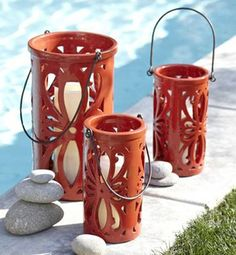 ceramic lanterns | Ceramic lanterns - Cinco de Mayo lighting