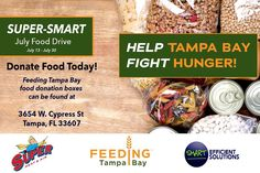 What's up Tampa Bay? Our friends at @superheatair and yours truly decided to host a food drive to help our friends at @feedingtampabay fight hunger in the Tampa Bay area. Help us help them by visiting our offices at 3654 W. Cypress St Tampa, FL 33607 to donate food for families in need! #thankyou #fooddrive #fighthunger #feedingtampabay