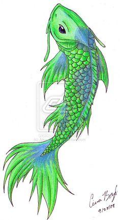 women's koi fish tattoo | Koi Fish Tattoo Design Carlmerrell Designs...