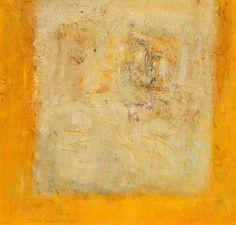 Solitare | Vaucluse | 1995 80 x 80cm tempera on paper  Susan Richter  #susanrichter #abstractart #abstractpainting #vaucluse