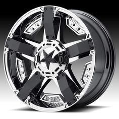18 Inch Chrome Black Wheel Rims Jeep Wrangler JK XD Series Rockstar 2 SET OF 5