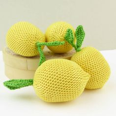 Handmade crocheted lemon play food soft toy, play pretend learning educational crochet yellow fruit citrus for babies and toddlers Yellow Fruit, Modern Toys, Crochet Food, Play Food, Toys Shop, Fine Motor Skills, Handmade Toys, Doll Toys, Baby Toys