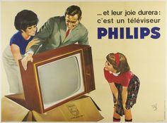 C'est Un Téléviseur Philips / Artist: R. Géleng / Origin: France - c. 1960 / 61 x 45 in (155 x 114 cm) / ..and their joy will last: it's a Philips television