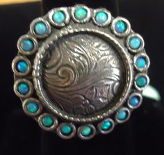 Great sterling and abalone ring!  #TheCornerShoppe