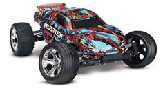 Hobby RC Trucks - Traxxas Rustler VXL 110 Scale Brushless Stadium Truck with TQi Radio and TSM Hawaiian *** Check this awesome product by going to the link at the image. Rc Cars And Trucks, Trucks For Sale, Cars For Sale, Remote Control Boat, Radio Control, Traxxas Rustler Vxl, Best Rc Cars, Car Ins, Car Pictures