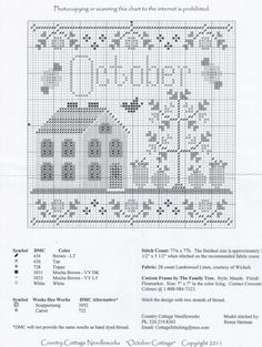 Brilliant Cross Stitch Embroidery Tips Ideas. Mesmerizing Cross Stitch Embroidery Tips Ideas. Cross Stitch Gallery, Fall Cross Stitch, Cross Stitch House, Cross Stitch Finishing, Cross Stitch Samplers, Cross Stitching, Free Cross Stitch Charts, Cross Stitch Freebies, Counted Cross Stitch Patterns
