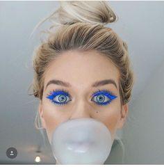 Love love love the blue eye makeup, NYX