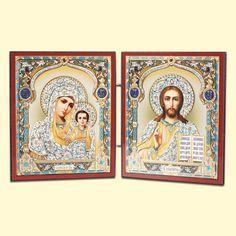 SHOP-PARADISE.COM:  Ikone-Skladen 2-teilig, 13x22 cm, aus Holz, Doppelprägung 9,52 €