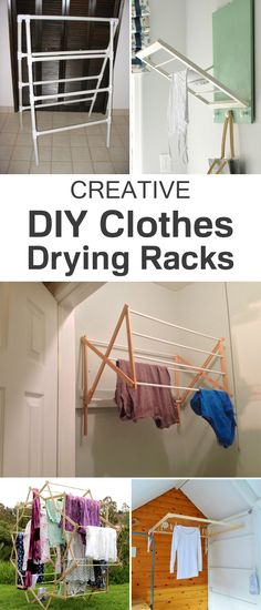 10 diy laundry drying racks for small spaces laundry room pinterest w schest nder raum. Black Bedroom Furniture Sets. Home Design Ideas