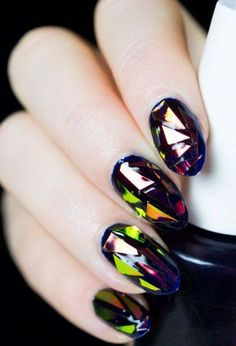 101 Glass Nail Arts That Will Make You Say WOW - Page 37 of 103 - The Glamour Lady