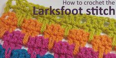 larksfoot stitch crochet tutorial