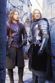 Faramir and Boromir <3 Lord Of The Rings. Love those guyes - WHY the f* did Boromir have to die? NOT fair!
