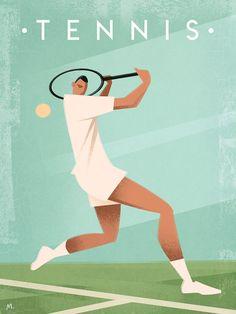 Tennis by Martin Wickstrom Retro Vintage, Vintage Tennis, Sports Day, Sports Logo, Tennis Wallpaper, Tennis Posters, Coffee Cup Art, Kunst Poster, Retro Stil