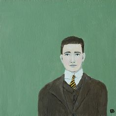 Brother with striped tie: Art by Elizabeth Bauman