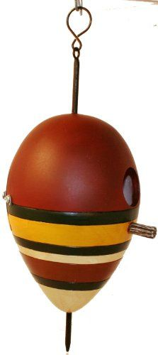 Birdhouses  Antique Fishing Bobber Birdhouse by Wildlife Creations Backyard makeover