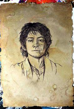 Bilbo Baggins, Hobbit Bilbo, Tolkien Hobbit, Hobbit Art, Lotr, Art Sketches, Art Drawings, Fantasy Art Men, Middle Earth