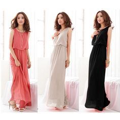 2014 Summer new elegant round neck sleeveless dress bohemian beach dress AL 2-in Dresses from Apparel & Accessories on Aliexpress.com