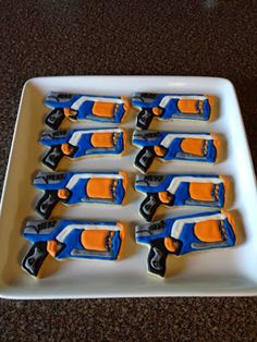 Janis Bakes: Nerf Gun Cookies - For all your cake decorating supplies, please visit craftcompany.co.uk