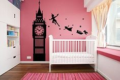 Vinyl Wall Decal Sticker Dorm Peter Pan Never Land Kids Children Story A52 ** This is an Amazon Affiliate link. Visit the image link more details.