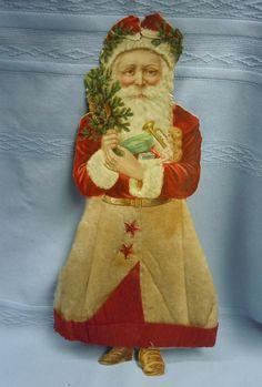 RARE GERMAN Santa Claus Embossed Die Cut Cotton Skirt