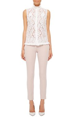 Cotton Blend Finley Straight Cropped Pants by JOSEPH Now Available on Moda Operandi