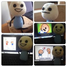 Cyanide and happiness, crochet. Craft, homemade, gift.