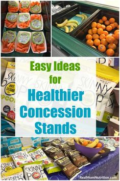 Ideas For A Healthy Concession Stand (That Makes Money!) : Is a healthy concession stand even possible? Here are some easy, research-backed ideas so you can make money AND serve healthy options! Team Snacks, Sport Snacks, Baseball Snacks, Kids Sports Party, Sports Food, Healthy Kids, Healthy Living, Concession Stand Food, Snack Bar