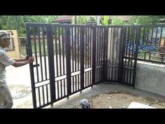 Fence Gate Design, Steel Gate Design, Front Gate Design, Main Gate Design, House Gate Design, Gate House, Front Gates, Entrance Gates, Gate Designs Modern