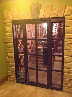 Iron Lion Entries - Custom Wine Door - Wine Cellar Door