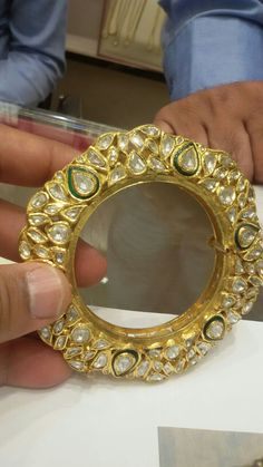 Bracelets – Page 3 – Finest Jewelry Jewelry Design Earrings, Gems Jewelry, Fine Jewelry, India Jewelry, Jewellery Designs, Kundan Bangles, Gold Bangles, Bangle Bracelets, Necklaces