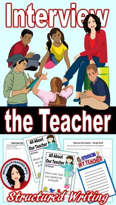 Beginning of the year is the time that we are getting to know each other. Interview the teacher is a fun way for the students to get to know you. This structured writing piece is a great way for the students to learn about you and create a written project that they can share with their families.