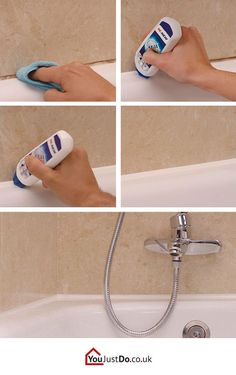 Do you have bad looking sealants in your bathtub? You can have them looking like new ones without removing them! Find more house hacks at www.youjustdo.co.uk