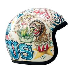 DMD Vintage Helmet - Circus | Open Face Motorcycle Helmets | FREE UK delivery - The Cafe Racer
