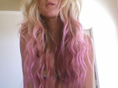 dip-dyed a great shade of rosy pink.