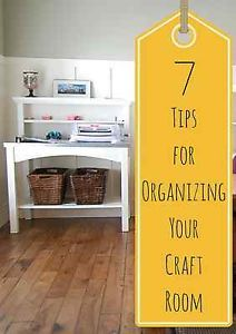 We recently made over our front room into the craft room and I love having this space and keeping it beautiful so I can craft whenever I want! Here are just a few tips to help you organize your craft room...