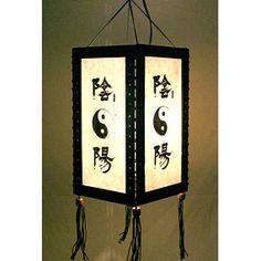 Zen hanging lamp chandelier / housewares fixture pendant lantern lampshade night light lighting shades home garden decor Yin Yang HA10
