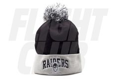Los angeles raiders cuffed pom knit beanie 84734c5ebaf