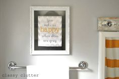Classy Clutter: Clean and Simple Yellow Bathroom Redo
