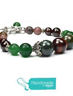 WEIGHT LOSS Bracelet. Metabolism Booster Gemstones; Red Tiger Eye, Bloodstone, Aventurine, Garnet and Multicolor Tourmaline. Natural gemstones. Gemstone beaded jewelry. Charm bracelet. from Mirilya https://www.amazon.com/dp/B018WQEQYY/ref=hnd_sw_r_pi_dp_wolpybY8GFD8G #handmadeatamazon