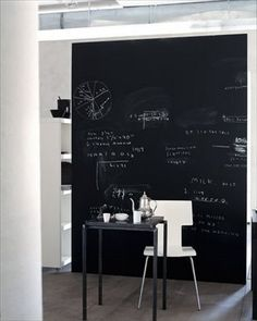 Another great visual of a chalk board wall.