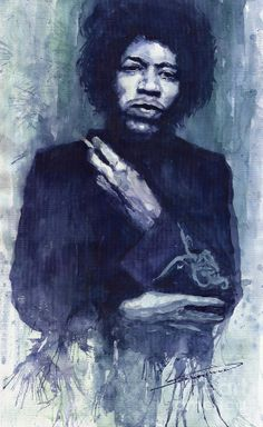 Yuriy Shevchuk, Jimi Hendrix 01 - Born in 1961 in Kiev, Ukraine, Yuri Shevchuk attended the Kiev Art School and the prestigious Kiev Architectural Academy. Yuriy has recorded his own experiences in his artworks: his three passions, painting, jazz and historical cars have become the focus of his paintings. Bewitched with jazz music he skillfully and rapidly sketches the cool and charming figures of musicians in action, showing the positive mood and spiritual intensity of jazz.
